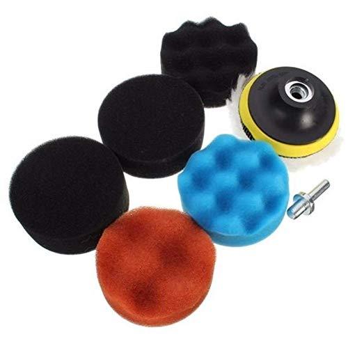 ViewSys Abrasive, Kit de Herramienta de abrasivos de Pulido/Pulido del cojín for el Coche Pulidora 8pcs 3 Pulgadas de Lana Pincel de Pulido,