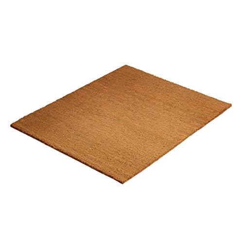 Floordirekt PRO Kokos Fußmatte extra hoch (30mm), natürlicher Schmutzstopper für Innen- und Außenbereiche, DREI Größen (50x80cm)