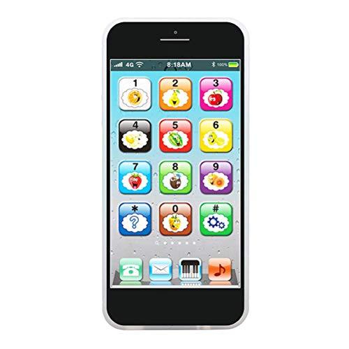Hahepo - Smartphone per bambini, con suonare musica cellulare con Smart Phone, apprendimento canzoni, luci lampeggianti, giocattolo educazione precoce