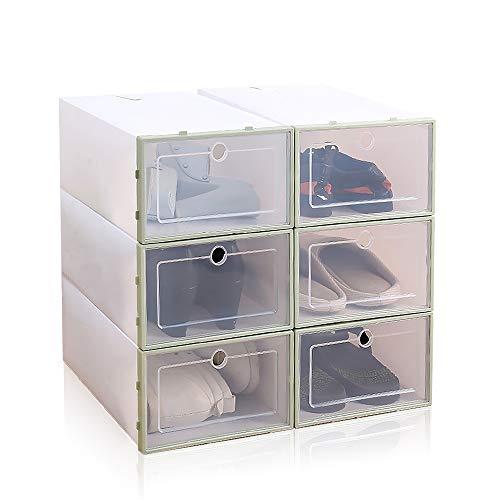 Local Makes A Comeback - Caja para Zapatos de Plástico Transparente, 6 piezas, 33 x 23 x 13 cm ⭐