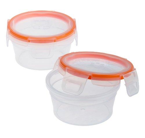 Snapware Total Solution Rectangular Plastic Food Storage Set (4-Piece, BPA Free, Meal Prep, Leak-Proof, Microwave, Freezer and Dishwasher Safe)
