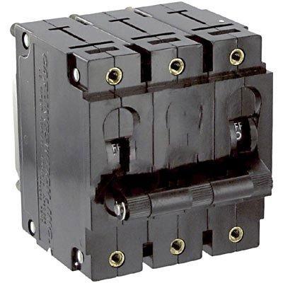 Carling Technologies CA3-B0-34-640-121-C , Circuit Breaker; Hyd/Mag; Hndl; Cur-Rtg 40A; Panel; 3 Pole; Vol-Rtg 480 WYE/277VAC