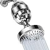 MMPY La cabeza de ducha y el 15 Etapa filtro de ducha Combo, spray de alta presión 5 Filtro de cartucho con filtro Ajustes de ducha con ablandador de agua for el agua dura eliminar el cloro y sustanci