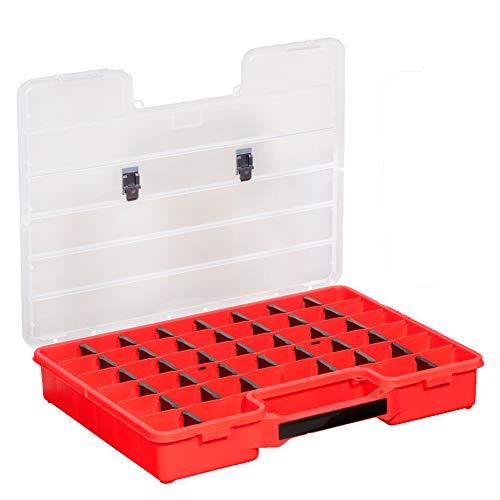 Erhard-Trading Allit 457300 EuroPlus Basic 47/7-36 rode grote assortimentsdoos PP 36 scheidingstegen zwart
