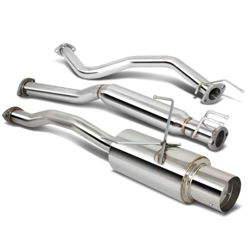 DNA Motoring CBEHC01EX Stainless Steel Cat back Exhaust System