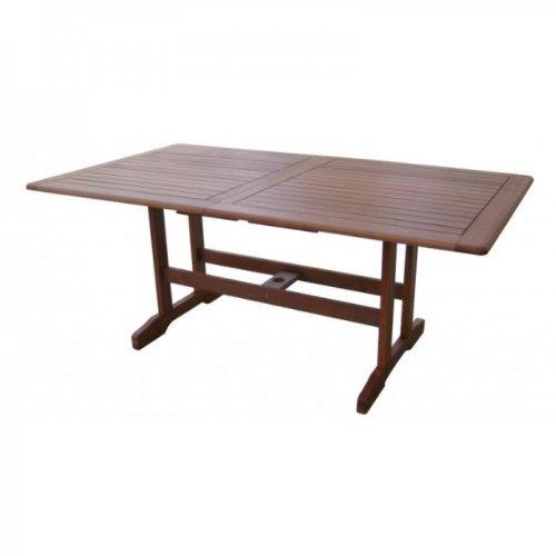 Table de jardin à rallonges 180–massif 240 cm en bois dur huilé bankirai
