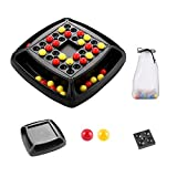 Juego de eliminación de bolas de arco iris, juego divertido a juego de bolas de arco iris para niños, juego de mesa de doble toque para padres e hijos, juguete de ajedrez de interacción