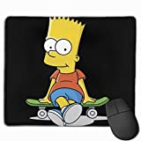 Chaxiedou Bart-Simpson Computer Laptop Mousepad Anti-Slip Mouse Mat for Desktops Office and Home 11.8''x9.8