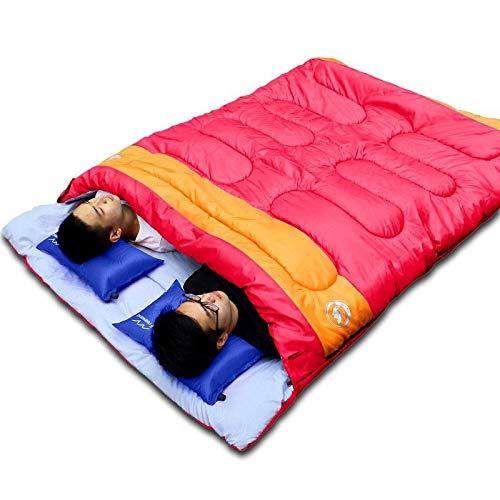 Sac de couchage pratique pour double personne, camping et adulte, sac de couchage pour amoureux de voyage, utilisation par temps chaud, sac de couchage Nemo, Rouge