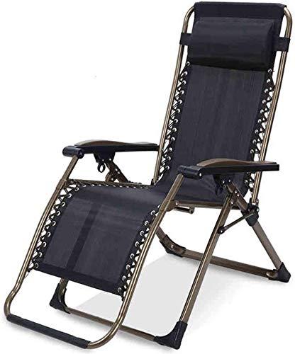 OESFL Silla Silla de Gravedad Cero Silla reclinable Plegable de Gran tamaño Salón reclinable Ajustable con 350 Libras Apoyo for la Cabeza de Apoyo