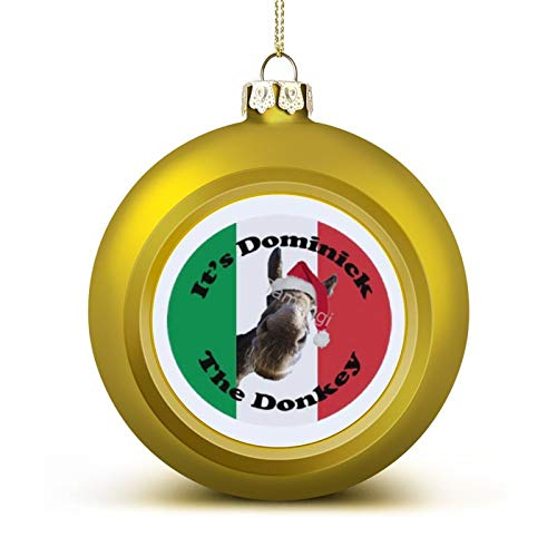 3 Inch Christmas Ornament, Dominick The Donkey Xmas Ornaments, Keepsake Gift Memorial Peace & Happiness Christmas Decorations