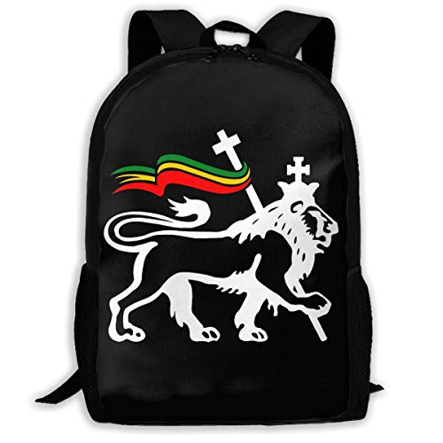 sghshsgh Mochilas Tipo Casual,School Backpack Charles Lion of Judah Rasta Reggae Roots Beanie 3D Adult Outdoor Leisure Sports Backpack High School Computer Bag