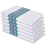 6 Pack Elaine Karen Flannel Unisex Hospital Receiving Blankets - 100% Cotton, for Girl or boy, Newborn Swaddle Wrap Baby Blanket Throw, Soft, Warm, Cozy, Infant for Crib, Stroller, 30x40