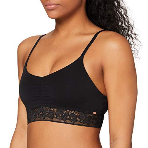 Skiny Damen Smart Cotton Bustier, Schwarz (Black 7665), 38