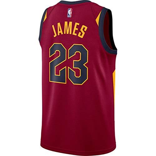 Fans Jersey Hombre Baloncesto NBA 23 Lebron James Chaleco Deportivo Bordado De Malla Cavaliers Swingman Tops Sin Mangas Camiseta,Red-XL