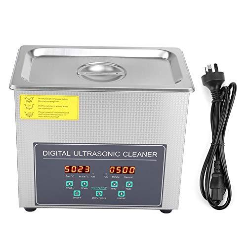 Pulitore a ultrasuoni, 3 l, doppia frequenza, 28 kHz/40 kHz digitale, pulizia a ultrasuoni con timer, serbatoio in acciaio inossidabile