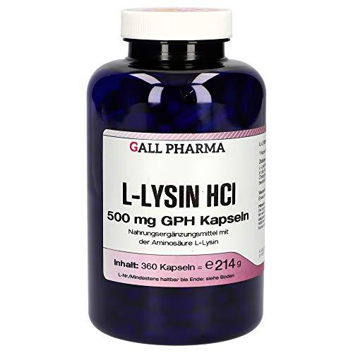 Gall Pharma L-Lysin HCl 500 mg GPH Kapseln 360 Stück