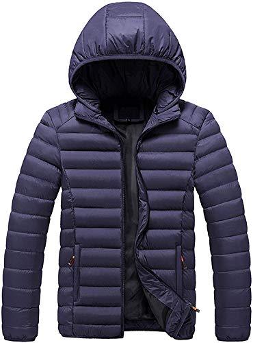 Latoshachase 2021 Men's Classic Hooded Puffer Jacket Warm Winter Coat Windbreaker Jackets Plus Size Overcoat Casual Outwear