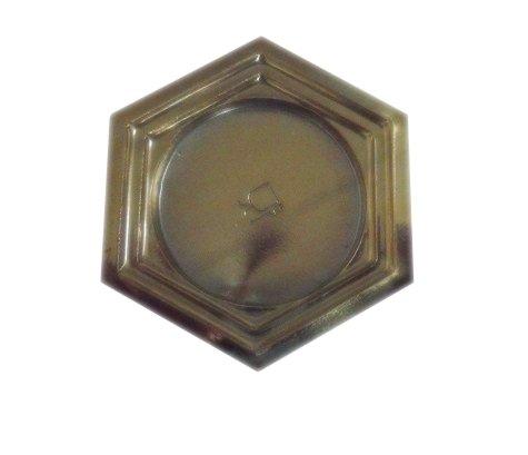 Lot de 50 assiettes hexagonales, plateau, 6 cm. Plateau idéal pour miGNON gâteaux, pâtisseries, monoportions, pour aliments.