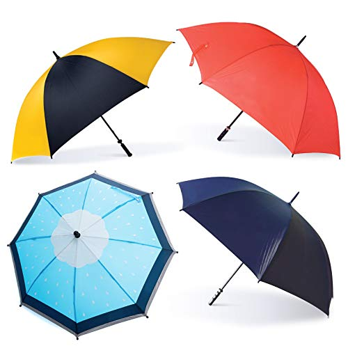 Oakthrift 4 Pack Golf Paraplu's | Premium 60 Inch Grote Storm Proof Met Willekeurig Logo