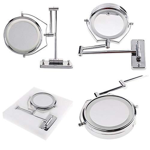 Lampas Studiolamp voor make-uptafel A6 met LED-spiegel voor kaptafel A LED zilver met spiegel voor kaptafel met dubbele wand