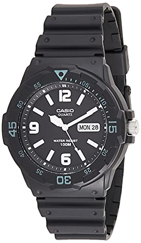 Casio Mrw-200H-1B2vdf Men's Mrw200 Black Resin and Dial Watch