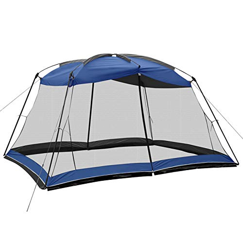 Superrella Screen House 13x9 Ft Canopy Tent Sun Shade Shelter Perfect for Outdoor Activities, Blue