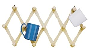 Fox Run Expanding Beechwood Coffee Mug Wall Rack (2) from