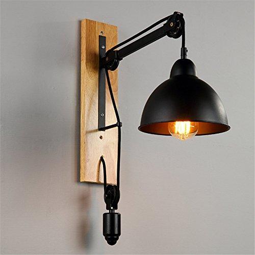 JJZHG wandlamp binnen wandlamp retro creatieve gangpad nachtlampje restaurant lamp woonkamer balkon lift katrol wandlamp omvat: wandlampen, wandlamp met leeslamp, wandlamp met stekker