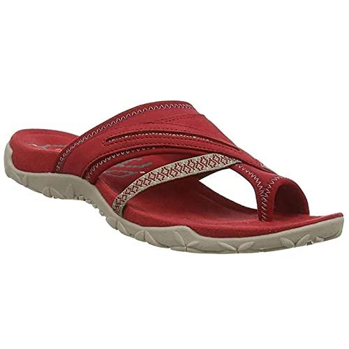 BestSiller Sandalias de juanetes, sandalias ortopédicas de verano, sandalias de mujer con punta abierta para verano, playa, diseño de arco de apoyo de diseño Flip Flop tacón plano