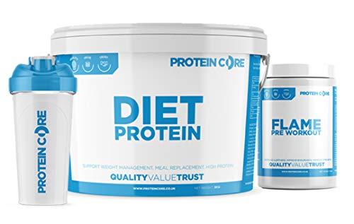 Diet Whey Protein Shake + Free Pre Workout Orange - Lose Weight Fast Fat Burner Powder (Strawberry Smoothie, 2.25KG)