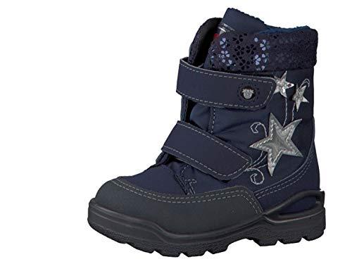 RICOSTA Pepino Mädchen Winterstiefel FINJA, WMS: Weit, wasserfest, Spielen Freizeit Winter-Boots Outdoor-Kinderschuhe,Nautic/Marine,26 EU / 8 UK