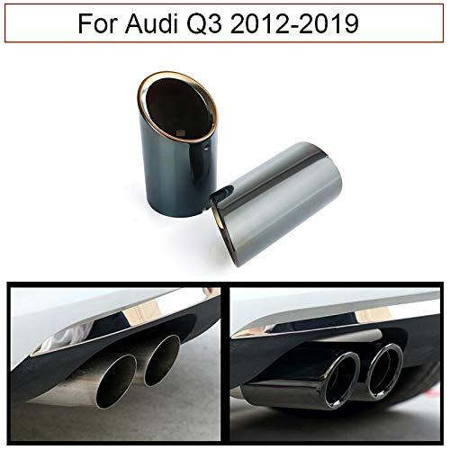 Silenciador de tubo de escape para coche, 2 unidades, color negro cromado Para Q3 2012-2019
