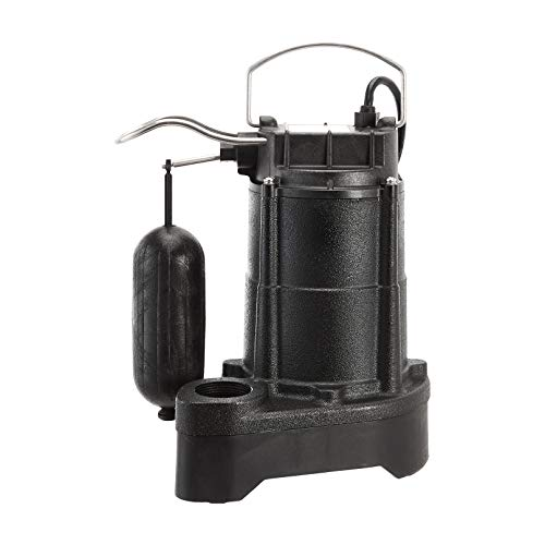 AmazonCommercial 1/3 HP Cast Iron Submersible Sump Pump with Mechanical Float Switch