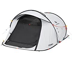 EASY ASSEMBLY / DISMANTLING Free-standing structure for easy set up and fold. Assembles in only 2 Seconds. Folds up easily thanks to the Easy Guide System. Portable lightweight tent 7.30 lb DARKNESS - FRESH & BLACK patented exterior fabric: 99% darkn...