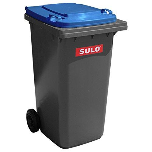 SULO Mülltonne Müllbehälter 2 Rad MGB ***80 Liter grau mit blauem Deckel***
