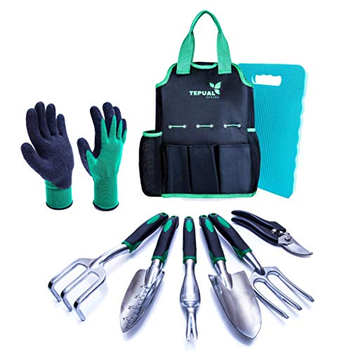 Garden Hand Tool Set Complete with Bag and Knee Pad Gift Set