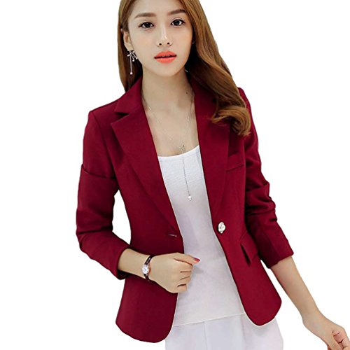 YiLianDa Mujer Oficina Trabajo Ajustada Elegant Blazers