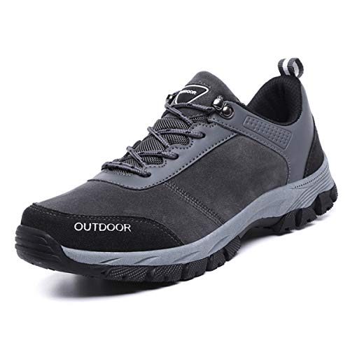 FZUU Unisex Wanderschuhe Trekking Schuhe Herren Damen Sport Outdoor Klettern Sneaker (46 EU / 280 mm, Grey-Z)