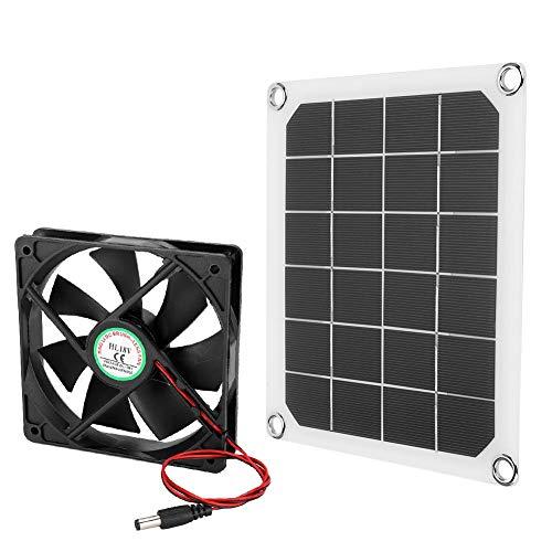 Ventilador de escape con energía solar de 6V 10W, mini ventilador de energía de panel solar a prueba de agua para el ático del hogar, invernadero, enfriamiento de la casa de pollo para mascotas