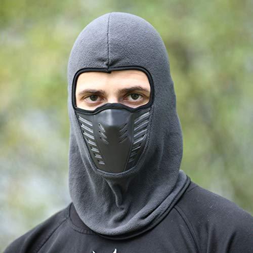 JIAAN Pasamontañas Máscara Pasamontañas Moto Negro Impermeable Esquí Ciclismo Snowboard Máscara Facial de Deportes al Aire Libre Calentar a Prueba de Viento Tamaño Universal,Dos Piezas