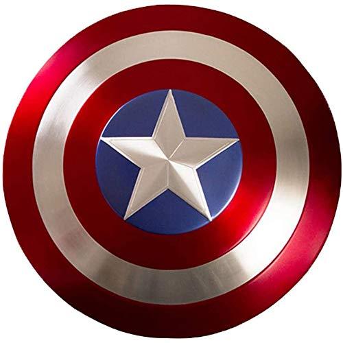 Captain America Tous Les Métal Shield Marvel Avengers Autour De L'alliage D'aluminium Prototype Taille Jouets pour Adultes, Bouclier De Captain America
