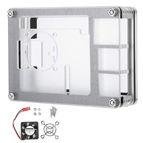 9 Schichten gute Wärmeableitung Kühlkörper Gehäuse, praktische hohe Härte, 9,4 x 7,1 x 2,8 cm, robuster Computer für Host Motherboard Desktops (Gehäuse + Lüfter + Netzabdeckung)