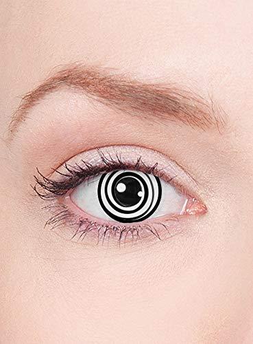 Maskworld - Crazy Hypno Kontaktlinsen / abgedrehte Comic-Style Monatslinsen - Motivlinsen ohne Sehstärke - Unisex - Erwachsenen Kostüm-Zubehör - ideal für Halloween, Karneval, Motto- und Horror-Party