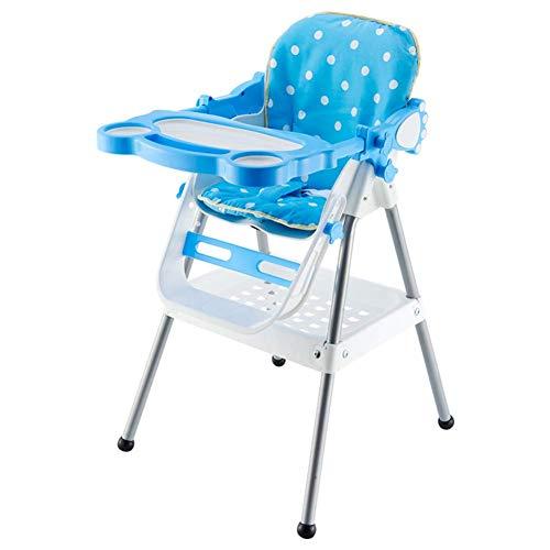 QQXX hoge stoelen voor baby's, eettafelstoelen, veiligheidsgordel, eenvoudig opvouwbaar, draagbaar met zhangqiang (kleur: groen, maat: 39 x 37,5 x 30 cm) ZQANG4460r-1 Zqang4460r-1
