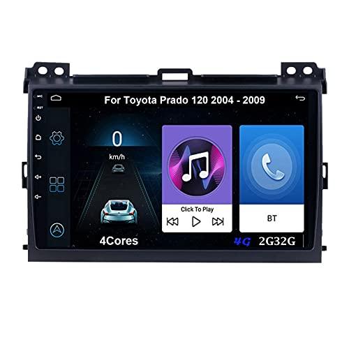 Android 10 Autoradio 9 Pulgadas Coche Radio De Coche Pantalla Tactil Para Toyota Prado 120 2004-2009 Radio Del Coche Car Player Conecta Y Reproduce Coche Cámara Trasera (Color : 4Cores 4G 2G32G)
