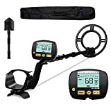ULHUND Professional Metal Detector for Adults, [Disc & Notch & Pinpoint Modes] Metal Detector Waterproof IPX7 with Higher Accuracy [Advanced DSP Chip], Metal Detectors with Shovel for Treasure Hunting