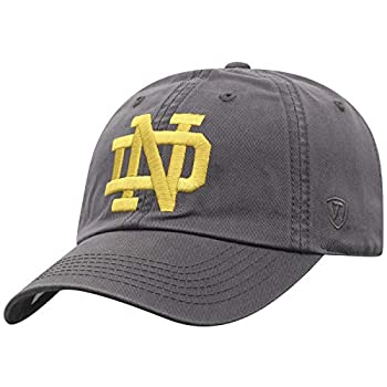 Top of the World Notre Dame Fighting Irish Men s Adjustable Relaxed Fit Charcoal Icon hat Adjustable