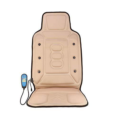 Shiatsu Back Massager 9-Motore Massaggio del Sedile Cuscino con Calore for Spalle Collo Lombare della Parte Posteriore Cosce Sedie e materassini per Massaggi elettrici