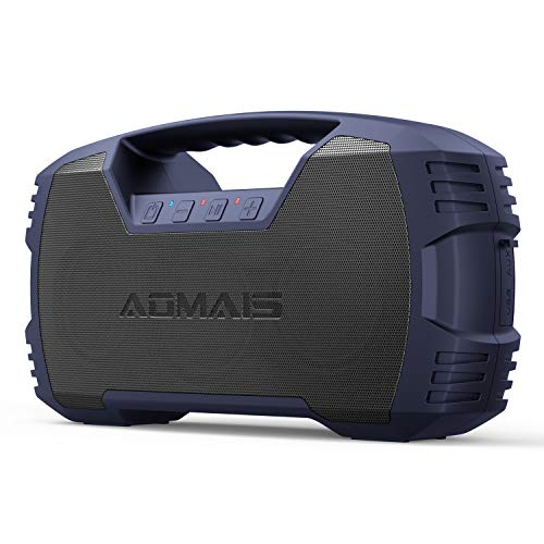 AOMAIS GO Bluetooth Speakers, IXP7 Waterproof, Outdoor 40W Wireless Stereo Pairing Booming Bass Speaker, Bluetooth 5.0, 10000mAh Power Bank, Durable for Everywhere -Gentle Blue